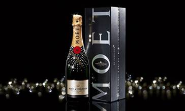 Bottle of Moet champagne