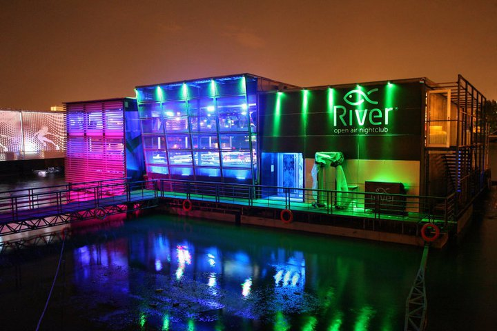 Club River   Belgrade at night
