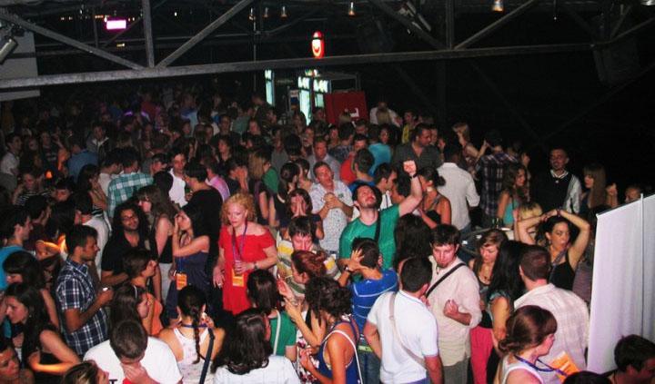 Club Povetarac   Belgrade at night