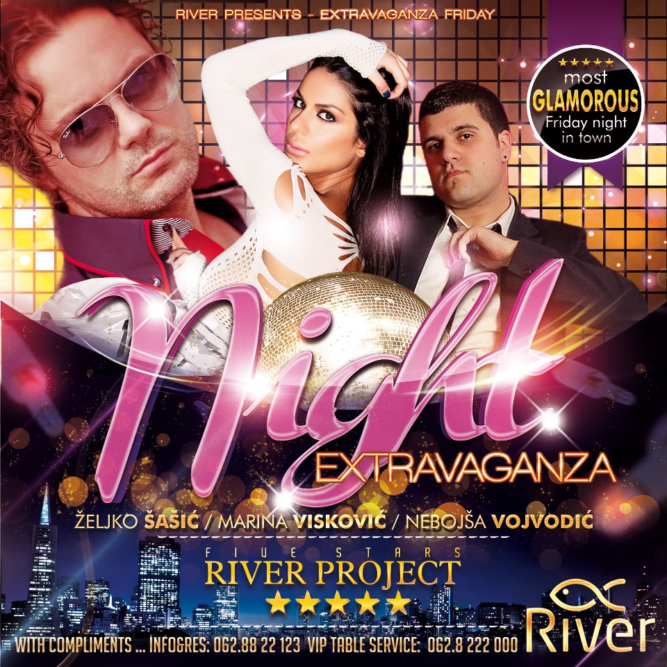 Extravaganza Night at River - Belgrade at night