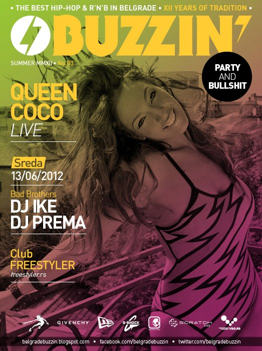 MC Queen Coco at club Freestyler - Belgrade at night