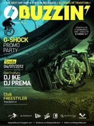 Buzzin' G-Shock Promo Party at Freestyler - Belgrade at night
