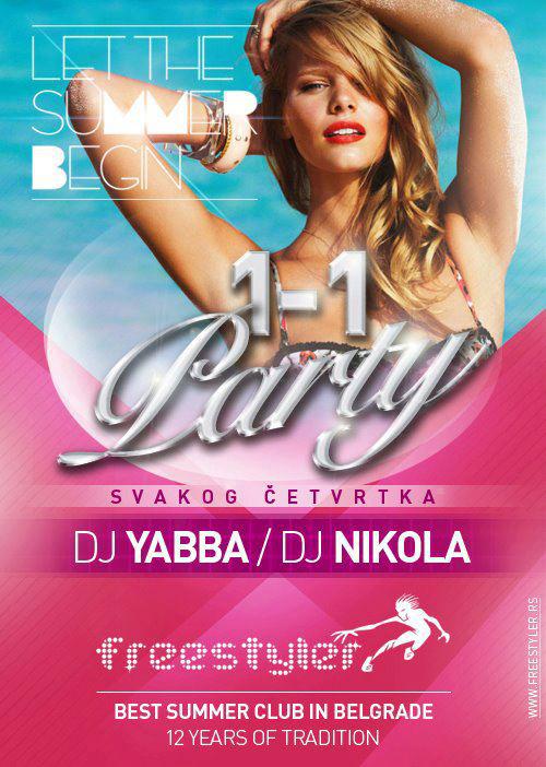 1-1 Party at Freestyler | Belgrade at night