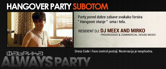Hangover Party at Fabrika - Belgrade at night