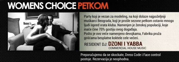 Womens Choice Party - Belgrade at night