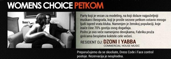 Womens Choice Party | Belgrade at night