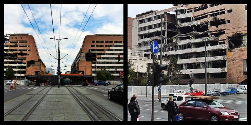 Nato bombed buildings