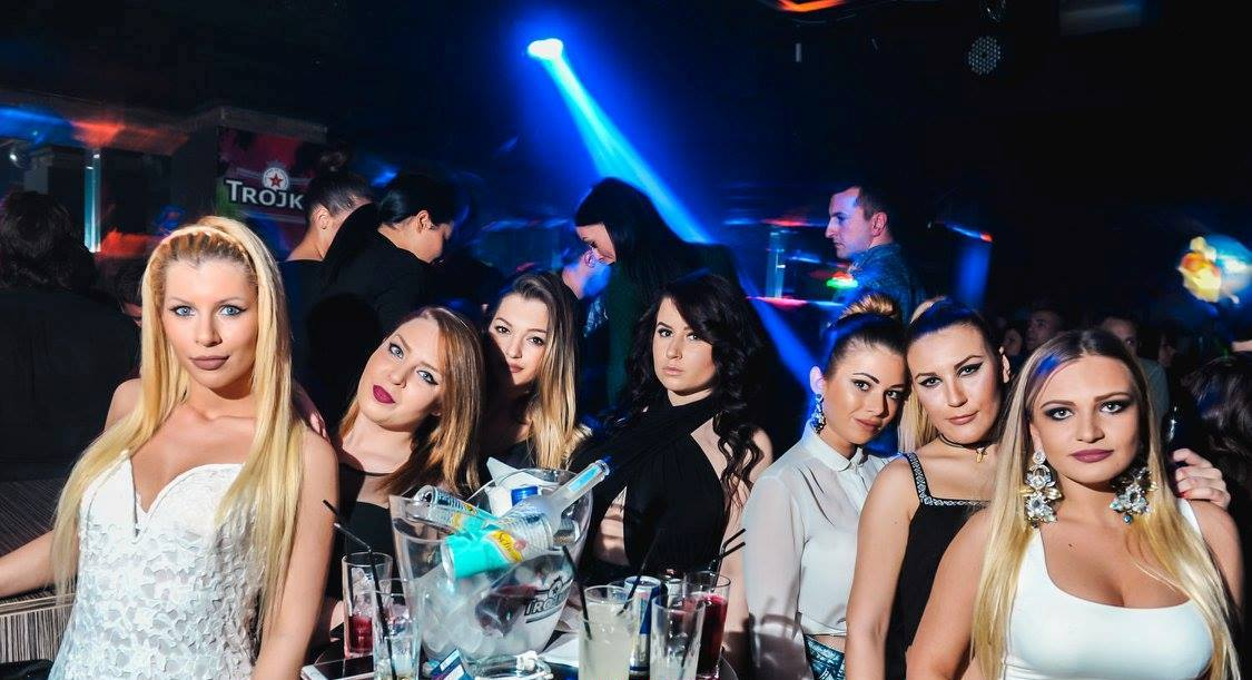 Awesome parties at Square club - Belgrade at night