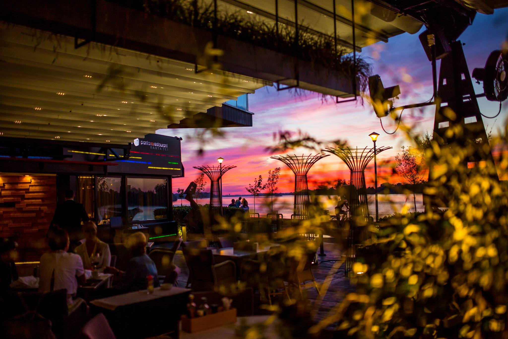 Belgrade perfect sunset