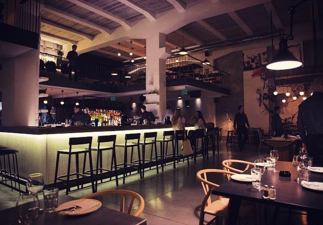 Stylish restaurant for Friday night