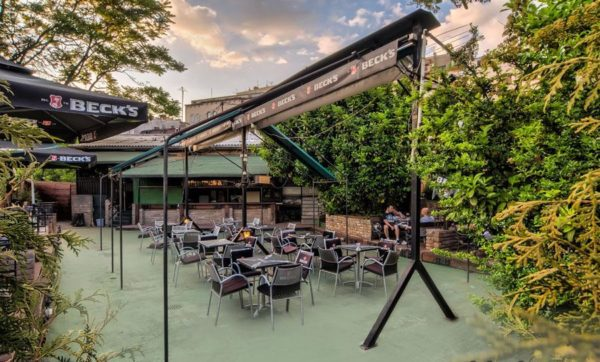 Beer Gardens in Belgrade bridge pub