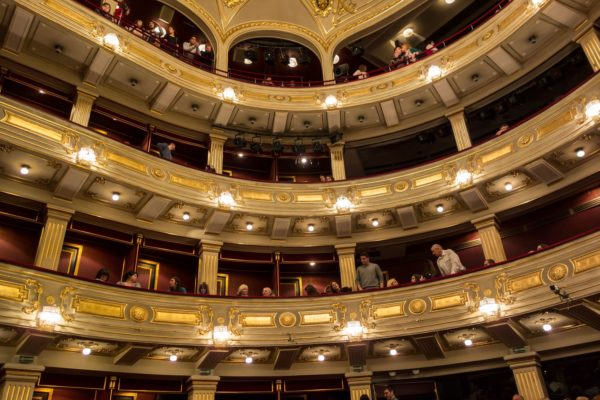 Inside the National Theater in Belgrade, Serbia
