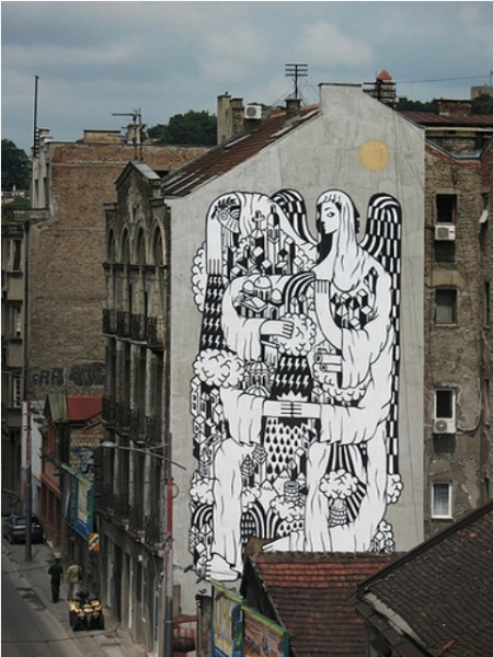 mural gospa beograda
