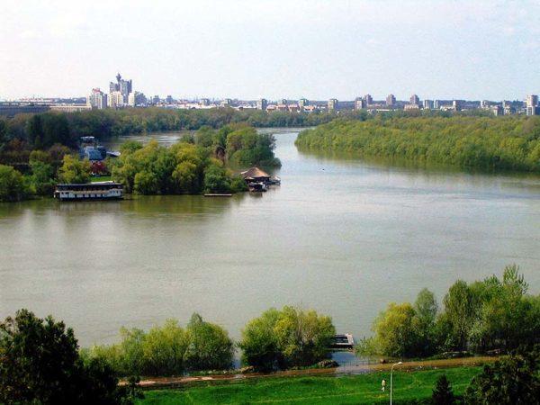 Danube in Serbia   Belgrade at night
